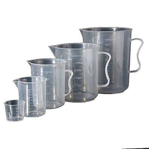 """1000ml Plastic Graduated Measuring Cup Jug With Spout Lab Volume Measuring Tool"" shopping"