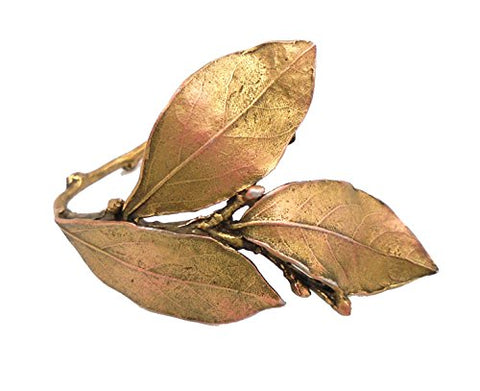 """Bay Leaf"" Napkin Rings (Set of 4) by Michael Michaud for Silver Seasons Table Art"