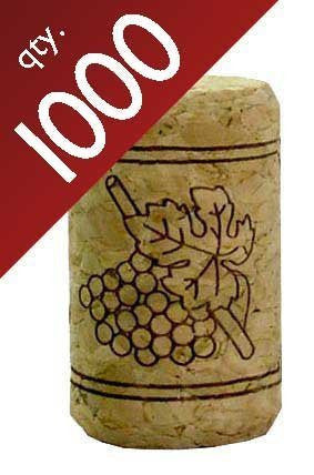 "#9 Straight Corks 15/16"" x 1 1/2"". Bag of 1000 by Midwest Homebrewing and Winemaking Supplies"