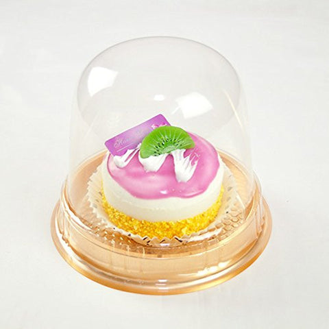 100 Clear Lid Cupcake Muffin BPA-Free Containers Gold Base Bake Sale Pod Box