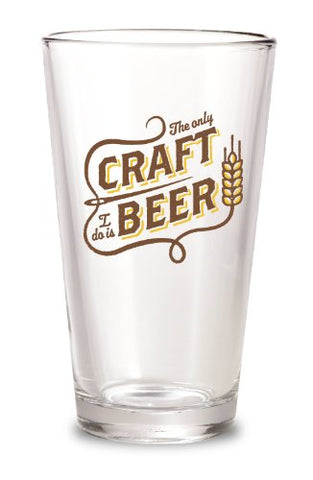 """Craft Beer"" 16 oz Pint Glass - By 30 Watt"