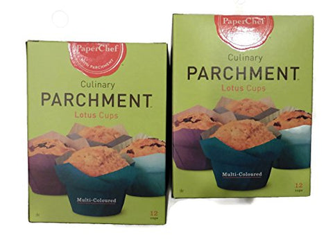 (2 Pack) Standard Lotus Baking Cups (multicolored), 24 Pieces (12-ct/Box)