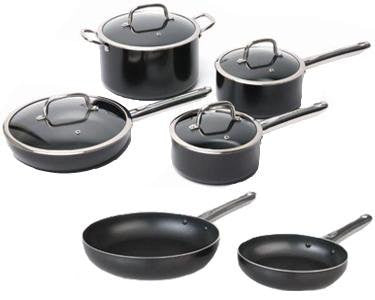 10-Pc Cookware Set in Black