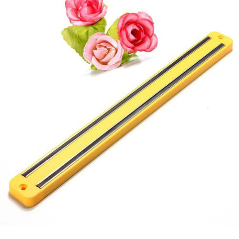 """33CM Wall Mounted Magnetic Knife Rack Holder Kitchen Tool (Yellow)"" shopping"