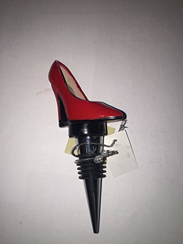 """A Step Up"" Pink Shoe Wine Bottle Stopper"