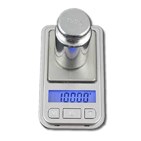 0.01g-100g Mini Ultrathin Jewelry Drug Digital Pocket Scale - Silver