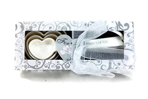 """Recipe for Love"" Heart Shaped Measuring Spoon Sets, Bridal Favors (2)"