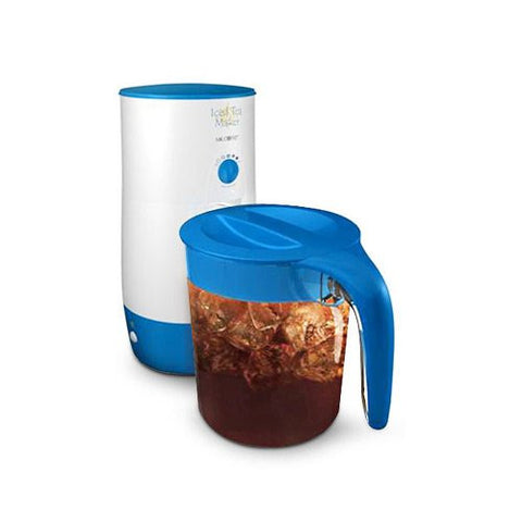 Mr. Coffee TM39P 3 Quart Iced Tea Maker with Pitcher White/Blue