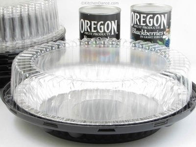 "10"" 2 Piece Pie Carriers with 10"" Pie Pans- Pack of 10 Carriers and Pie Pans (HIgh Dome Lid)"