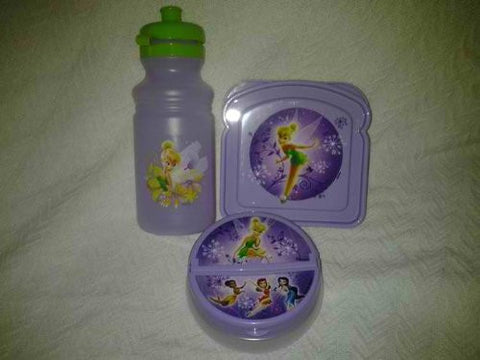 """Tinkerbell-Fairies""..!!!3-pc Lunch Set(1-sandiwch Box, 1 Snack Cointainer,1-jug or Bottle Water)..!!!"