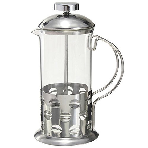 """350ml Stainless Steel Glass Teapot Cafetiere French Coffee Tea Filter Press Plunger"" shopping"