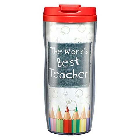 """Best Teacher"" Polymer Travel Mug"