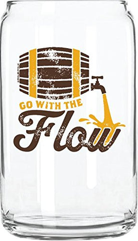 """Go with the Flow"" Glass Can - By 30 Watt"