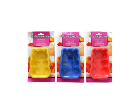 """Silicone Bakeware, Teddy Bear Shaped"""