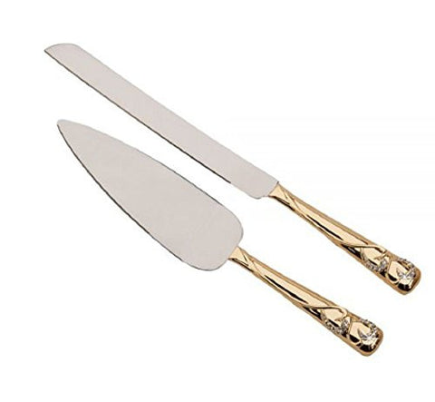 """Forever"" Gold Knife & Server Set, 13"" L"
