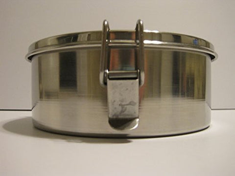 1 Quart Round Flan Pan with Straight Sides 6 Inches Diameter Stainless Steel with Locking Top