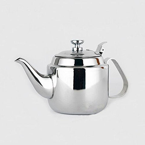1400ml Coffee Kettle Induction Cooker Boil Water Kettle 304 Stainless Steel Tea Kettle with Strainer
