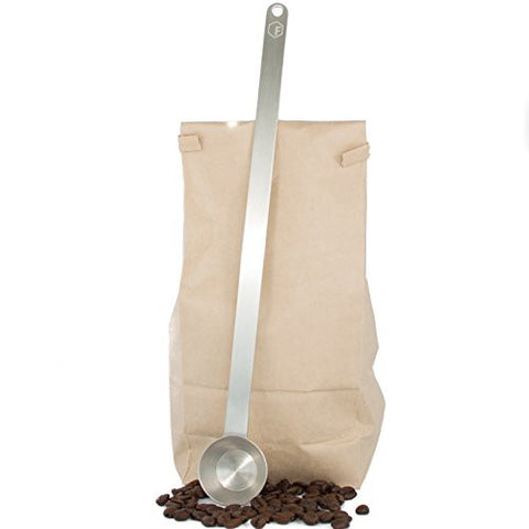 "11.5"" Extra Long Coffee Scoop - 1 Tablespoon - Premium Grade 18/8 Stainless Steel - Reaches Bottom of Coffee Bags"