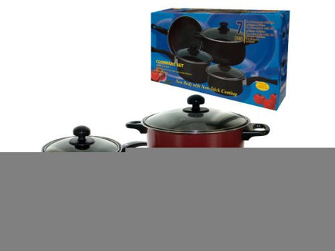 3 packs of 4 cookware set (2 saucepan + 1 casserole w/lids, 1 frypan)