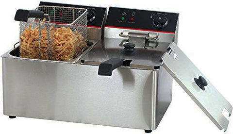 220V. Commercial S/S Electric Fryer (Dual)