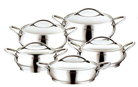 10 Piece Stainless Steel Cooking Set