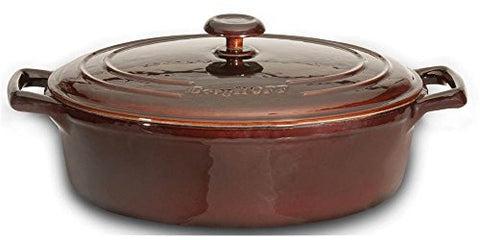 3.4 Qt. Cast Iron Round Covered Casserol