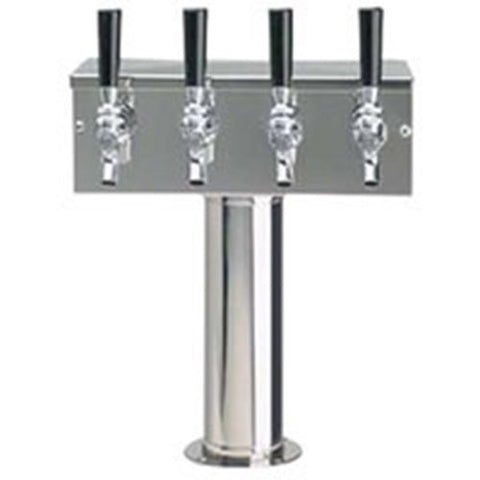 "Beverage-Air 406-063A 4-Tap Tower Beverage Faucet 3"" Column"