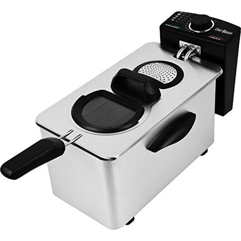 3.5 Liter Electric Deep Fryer By Chef Buddy- Removable Container and Heating Element- Simply Awesome*