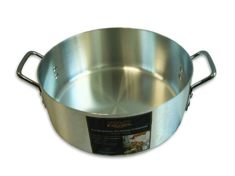 Alegacy Eagleware EWBR15 Professional Standard Weight Aluminum Brazier, 15-Quart