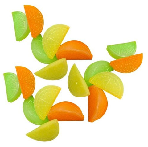 (30 Pack) ChefLand Reusable Fruit Shape Plastic Ice Cubes