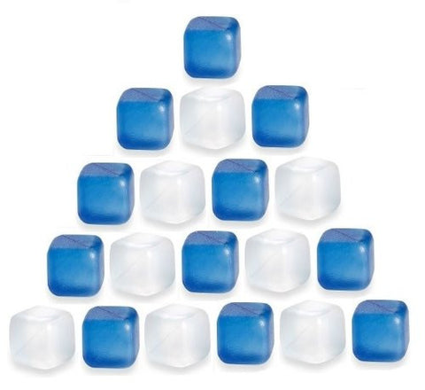 (30 Pack) ChefLand Reusable Plastic Ice CubesPlastic Cubes Won't Dilute Drinks