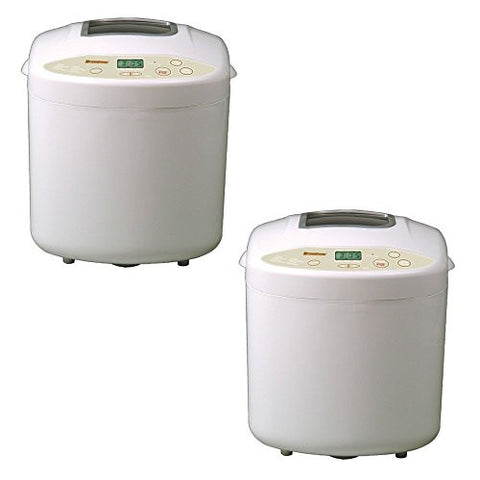 Breadman?White Plastic Countertop Bread Maker - Model: TR520 - 2 Pack Gift Bundle