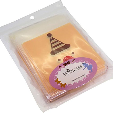 """Happy New Year Funny Face"" Cookie Candy Party Gift Bags with Self-Adesive, Pack of 95"