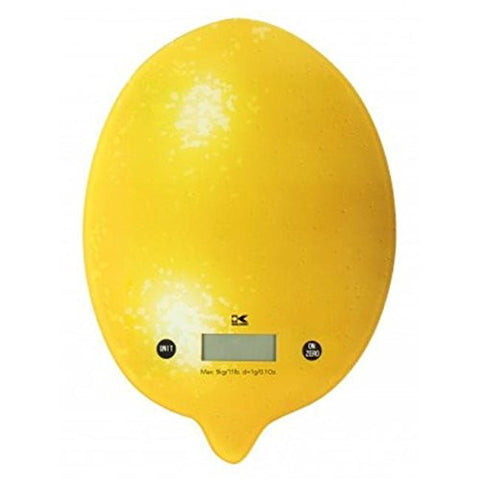 (Ship from USA) Kalorik EKS 42441 Y Digital Kitchen Scale, Lemon /ITEM NO#E8FH4F85420977