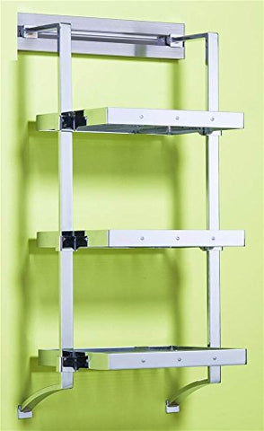 18 in. Aluminum Wire Shelf Set (Polished Chrome)