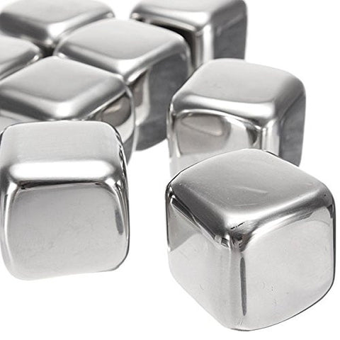 """1Pcs Stainless Steel Whisky Stones Cube Glacier Whiskey Rocks"" shopping"