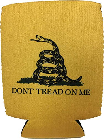 (1) Dont Tread On Me - Yellow Gadsden Flag - Magnetic Neoprene Koozie / Can Holder / Beverage Cooler