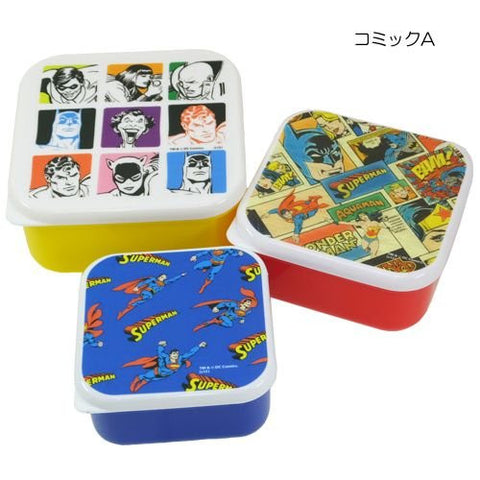 ( Sealed container / lunch box ) DC comic hero 3P lunch box [ A ] comic