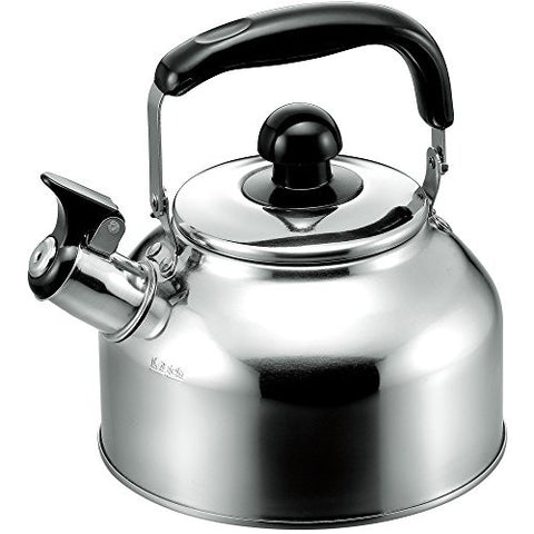 18-8 Stainless Steel Lid Wide Whistling Kettle 2.7L?__japan import?__