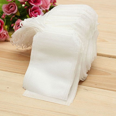 """100Pcs Non-woven Fabric String Seal Tea Bag Filter Empty"" shopping"