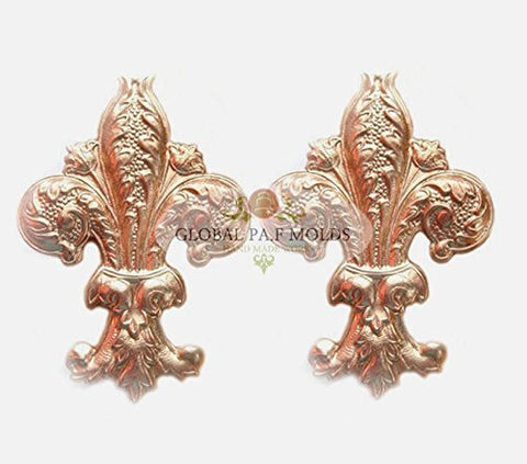 1 Piece Fleur de Lis mold 988 Sugarcraft Molds Polymer Clay Cake Border Mold Soap Molds Resin Candy Chocolate Cake Decorating Tools