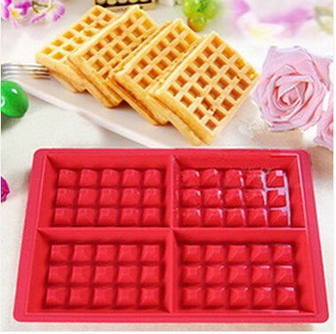 1 Pcs Silicone Wafer Mold Cake Mould Baking Tools 28.5*19 Cm