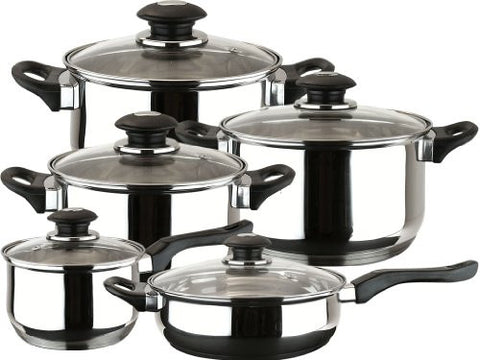 10 Pc Magefesa Cookware Set in Stainless Steel