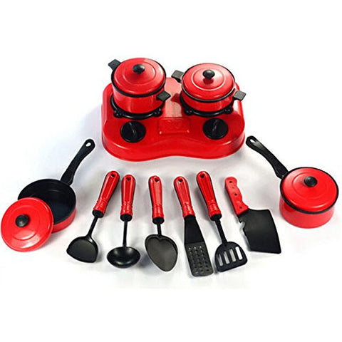 """11PCS Children Pretended Role Paly Kitchen Utensil Accessories Cooking Toy Cookware Set"" shopping"