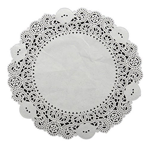 """10 Pcs Cake Doilies Cupcake Cookies Lace Round Paper Pads Placemat"" shopping"