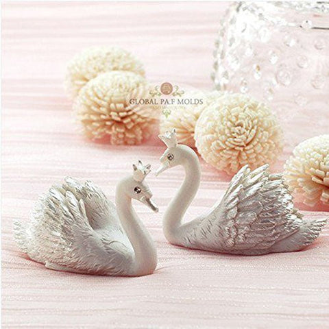 1 Piece 3d Elegant Crown Swan Mold 9 Sugarcraft Molds Polymer Clay Cake Border Mold Soap Molds Resin Candy Chocolate Cake Decorating Tools
