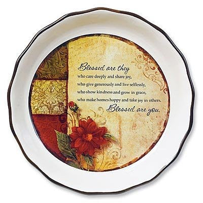 """Blessed Are You"" Pie Plate"