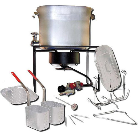26-Quart Aluminum Propane Turkey Fryer and Cooker, Includes steam tray