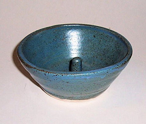"""ABC Products "" - Individual Apple Baking and Serving Bowl - Also a All-Purpose Bowl - For Many Uses - Candy Dish - Nut Bowl - Microwave An Egg - Ring /Jewelry Holder and More We Haven't Even Though Of - (Primitive Blue Glazed Finish - Made In America)"