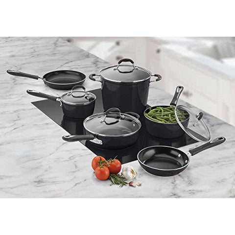 10-piece Black Cuisinart Greenchef Induction Ready Ceramic Non-stick Cookware Set